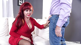 Redhead mature Erotic Vanessa moans during sex with her husband