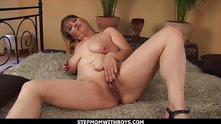 Big Tit Blonde Enjoying Young Cock
