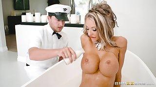 Blonde wife endures proper inches procure her wet in sum holes