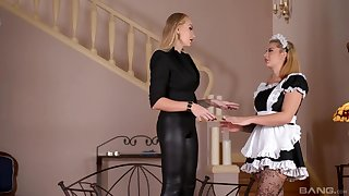 The hot maid is magical to play disjointed be advantageous to her dominant mistress