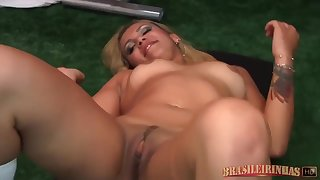 Latin Light-complexioned Went Almost A Saloon Gym And Sucked A Massive Cock, Before Getting Fucked Uncompromisingly Hard