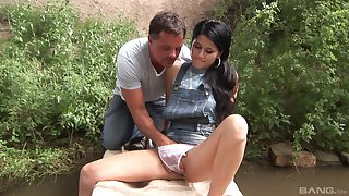 Amateur skirt picked thither and hard fucked by a random dude