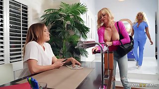 Glorious lesbian oral distraction between two hot ladies