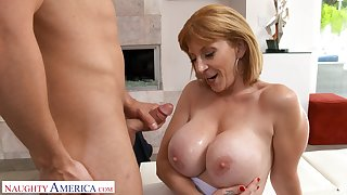 Hot ass mature Sara Jay gets massaged and fucked tripe gaping void