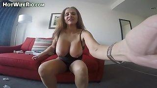 HotWifeRio - I Dote on My Dildo #44 - Chubby tits
