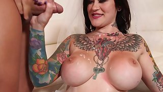Busty bride fucked one last time by horny brother in law