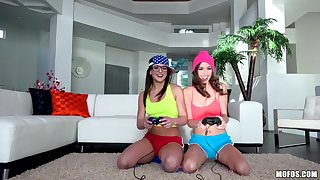 Leah Gotti & Madi Meadows in Tribbing Gamer Girls - PervsOnPatrol