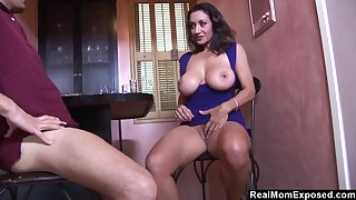 Heavy-Breasted Arab Housewife Blows And Fucks The Bartender