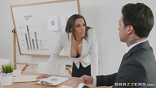 Office milf turns depraved on her business partner's big detect