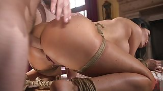 Gagging on a dick while being tied up is Jasmine Jae's perfect nightfall