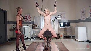 Petite kirmess brutally dominated by her mistress - full femdom