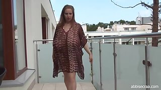 Abbi Secraa is a nasty woman with massive tits who likes posing and badinage on cam